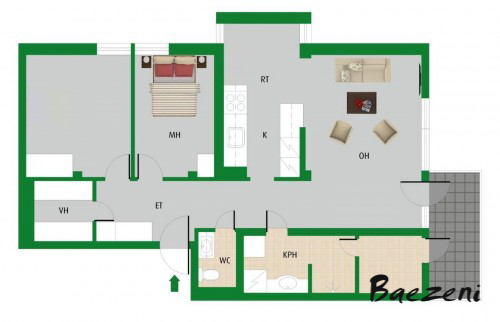 2D FAI (Furnished As Is)